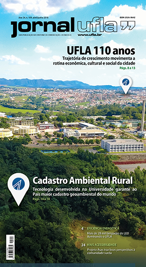 Capa da edição atual do Jornal UFLA